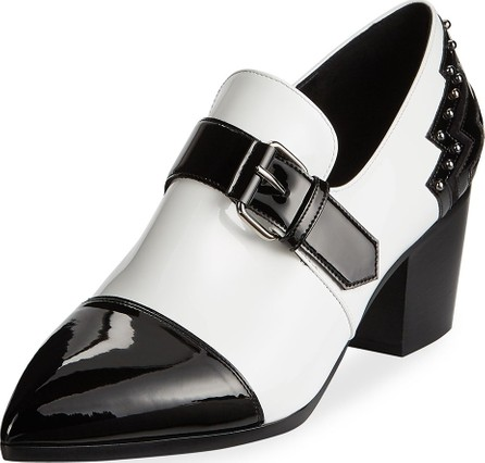 Balmain Patent Leather Monk-Strap Loafers