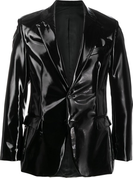 Versace Shiny single breasted blazer