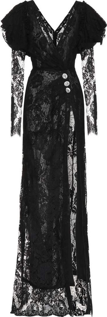 Alessandra Rich Embellished lace gown