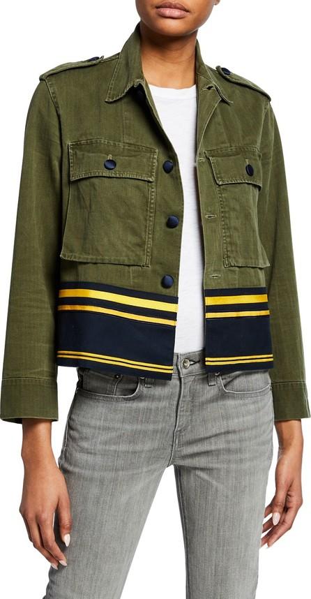 Harvey Faircloth Cropped Shirt Jacket w/ Border Stripes