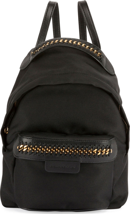 Stella McCartney Eco-Nylon Woven-Trim Backpack, Black