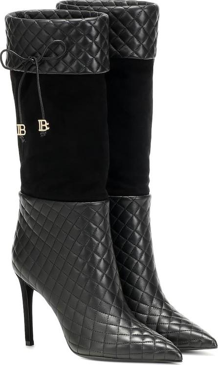 Balmain Mina leather knee-high boots