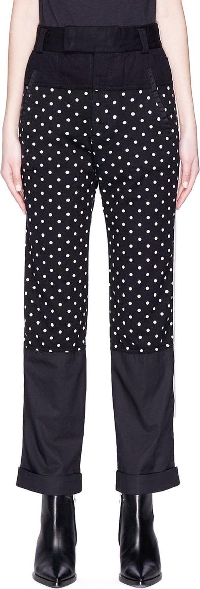 Haider Ackermann Polka dot print panel pants