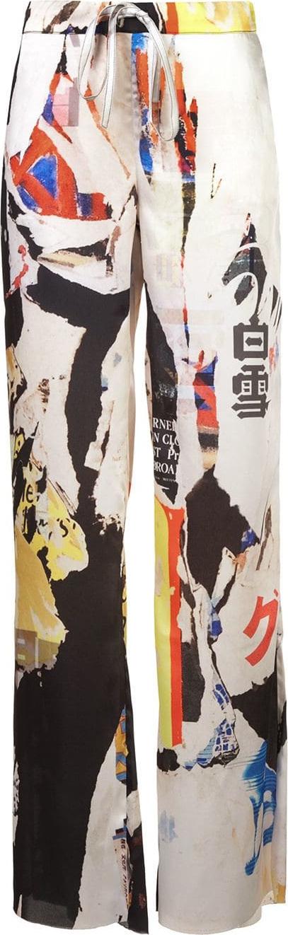Marques'Almeida Printed wide leg trousers