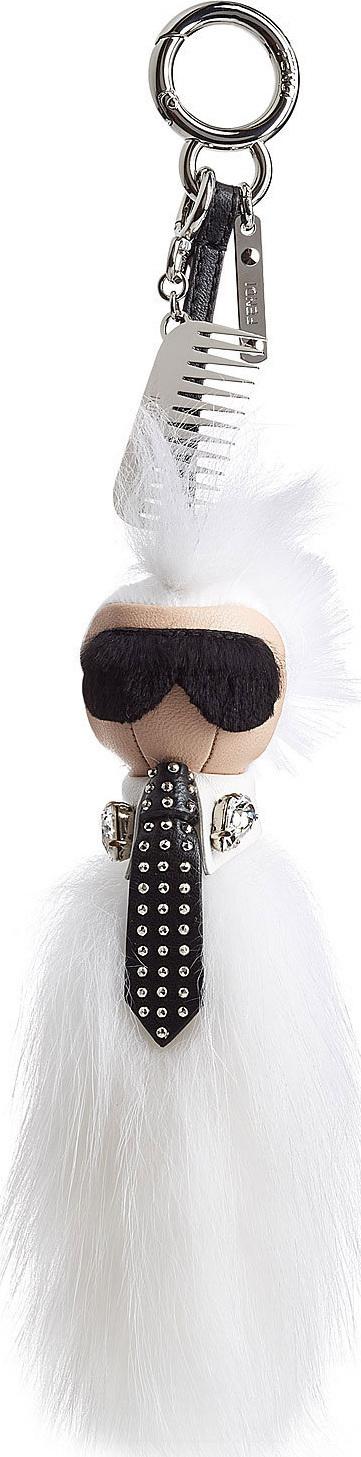 Fendi Keychain with Fox Fur