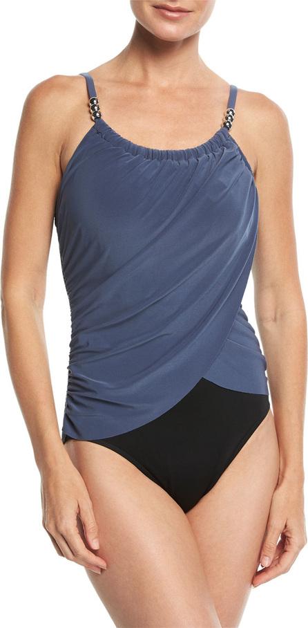Magicsuit Lisa Solid Draped-Front One-Piece Swimsuit