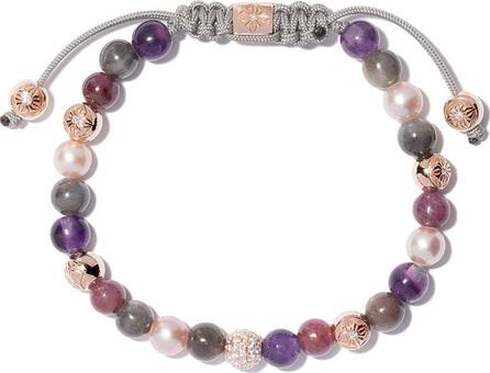 Shamballa Jewels 18kt yellow gold, sapphire & ruby beaded Non-Braided bracelet