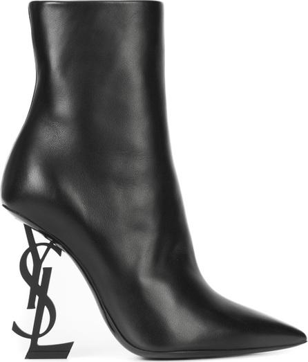 Saint Laurent Opium monogrammed heel boots
