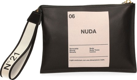 Nº21 Medium Numerology Logo Wristlet Pouch Bag