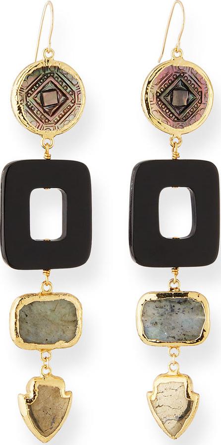 NEST Jewelry Carved Multi-Drop Earrings