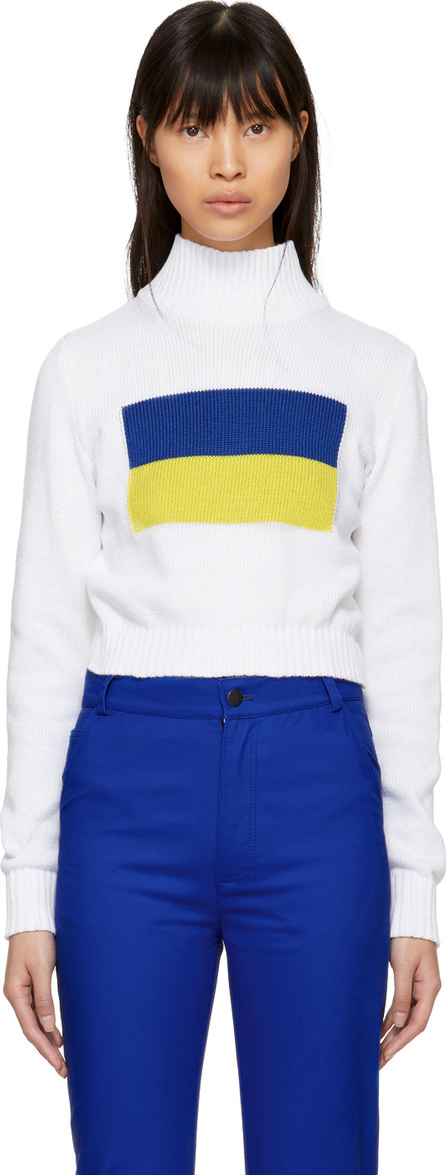 Anton Belinskiy White Mock Neck Sweater