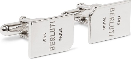 Berluti Logo-Engraved Palladium-Plated Cufflinks