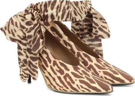 Zimmermann Leopard stretch-knit pumps