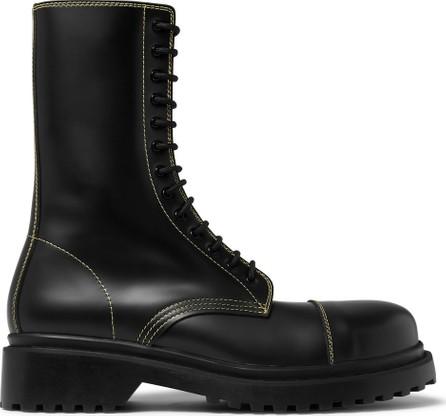 Balenciaga Cap-Toe Leather Boots