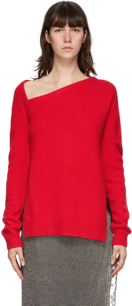 Christopher Kane Red Wool & Cashmere Sweater