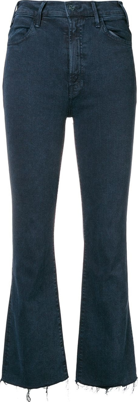MOTHER Cropped frayed jeans