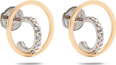 Charlotte Chesnais Saturn extra-small diamond & gold earrings