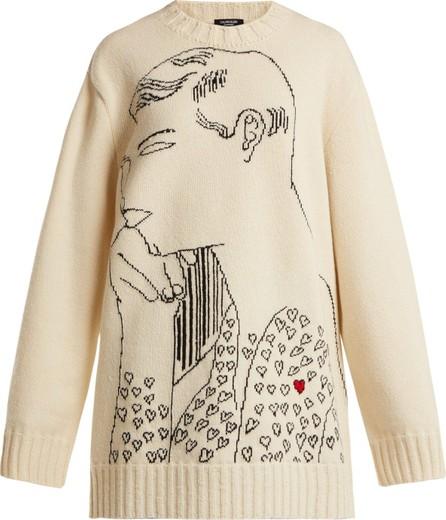 Calvin Klein 205W39NYC Andy Warhol-print wool intarsia sweatshirt