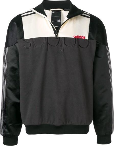 Adidas Originals by Alexander Wang Colour block zip sweatshirt