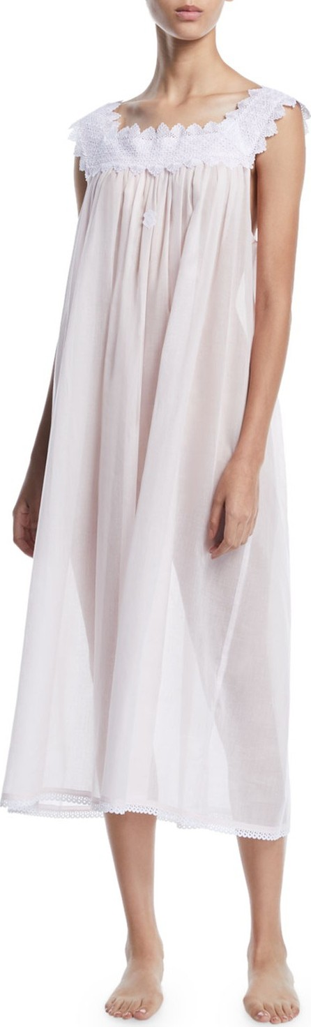 Celestine Ninifee Lace-Trim Sleeveless Nightgown