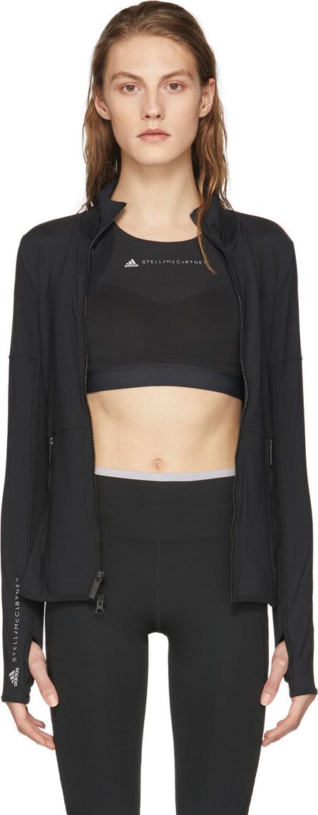 Adidas By Stella McCartney Black Essentials Midlayer Zip-Up Jacket
