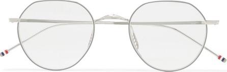 Thom Browne Round-Frame Silver-Tone Optical Glasses
