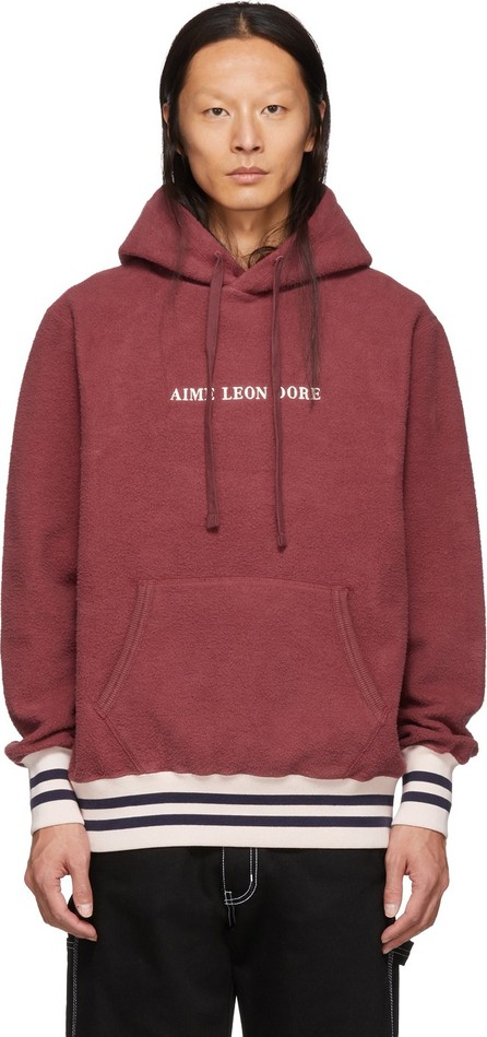 Aimé Leon Dore Burgundy Reverse Fleece Hoodie