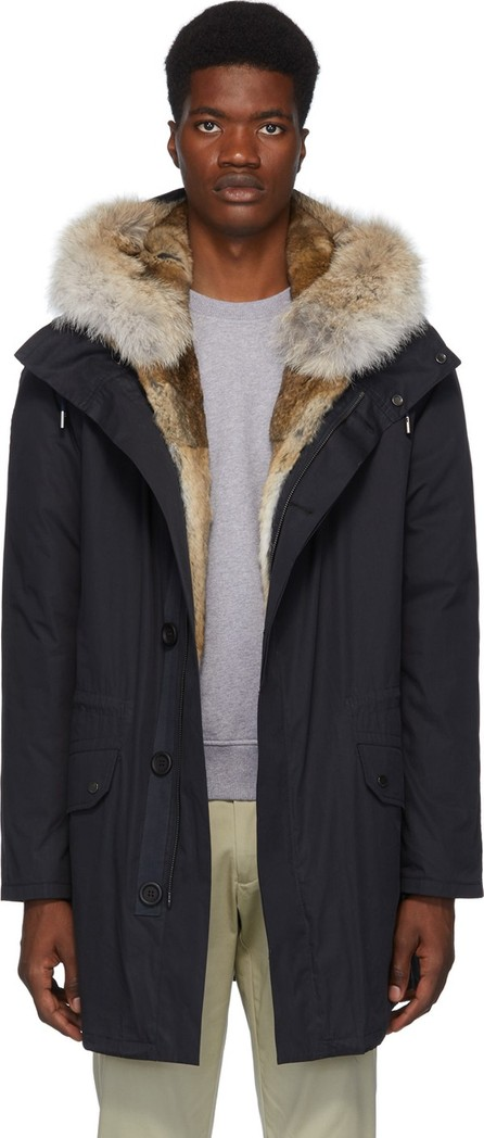 Army By Yves Salomon Navy Down Fur-Lined Parka
