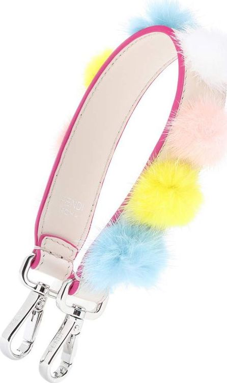 Fendi Mini Strap You fur-trimmed bag strap