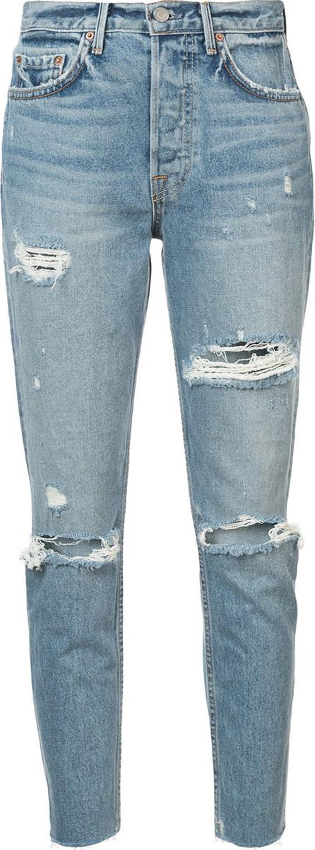 Grlfrnd Karolina distressed crop jeans