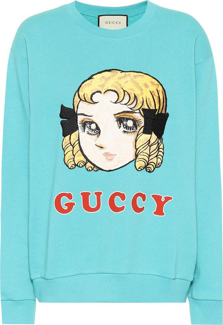 Gucci Guccy embroidered cotton sweatshirt