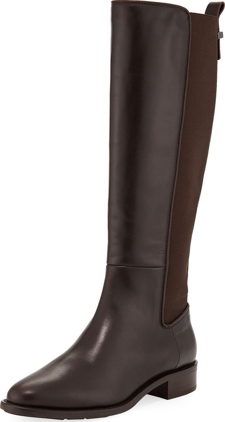 Aquatalia Finola Flat Leather Knee Boots