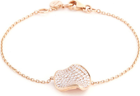Anyallerie 'Rose Petal' diamond 18k rose gold bracelet