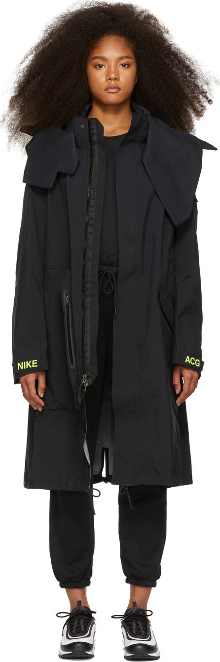 NikeLab Black Errolson Hugh Edition Hooded Coat