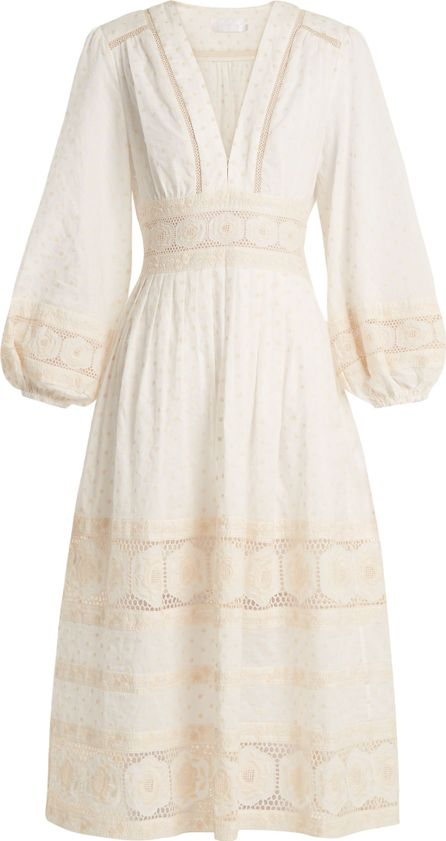 Zimmermann Prima polka-dot embroidered cotton dress