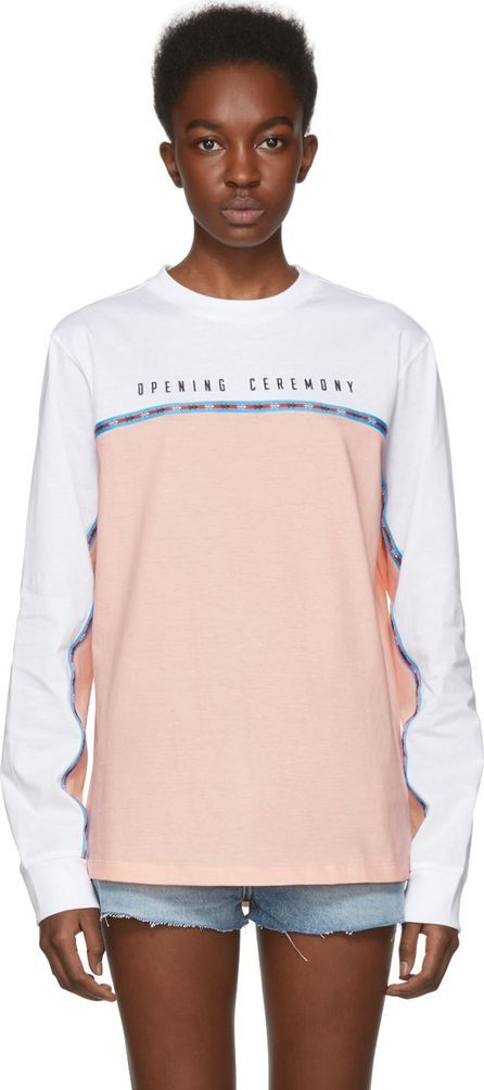 Opening Ceremony Pink & White Limited Edition Long Sleeve Echo T-Shirt