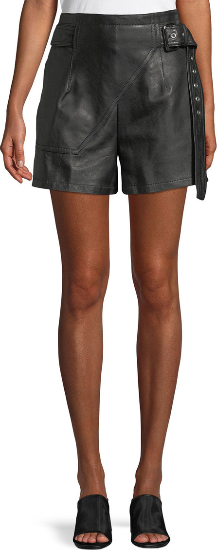 3.1 Phillip Lim Belted Leather Utility Shorts
