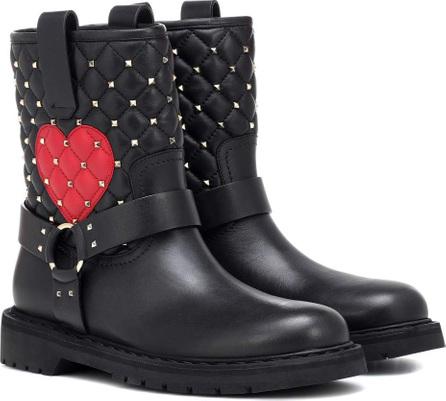 Valentino Valentino Garavani leather ankle boots