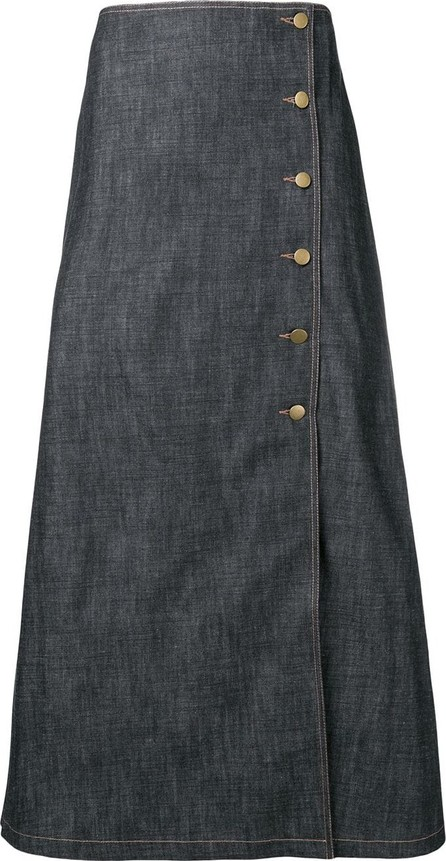 A.W.A.K.E Midi denim skirt