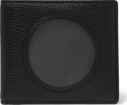 Maison Margiela Cutout Textured-Leather Billfold Wallet