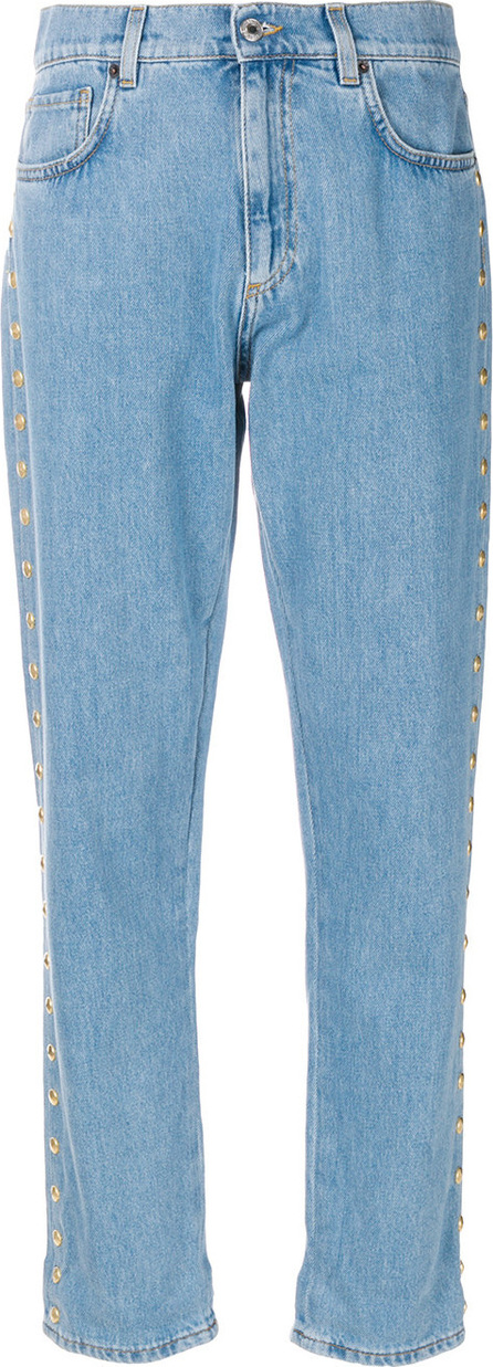 Moschino Cropped buttoned boyfriend jeans