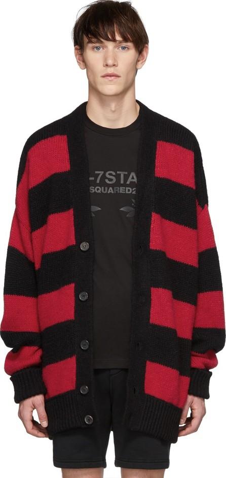 DSQUARED2 Black & Red Striped Cardigan