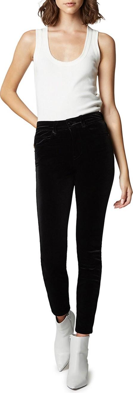 BLANKNYC The Grand Dame Velvet High-Rise Ankle Pants