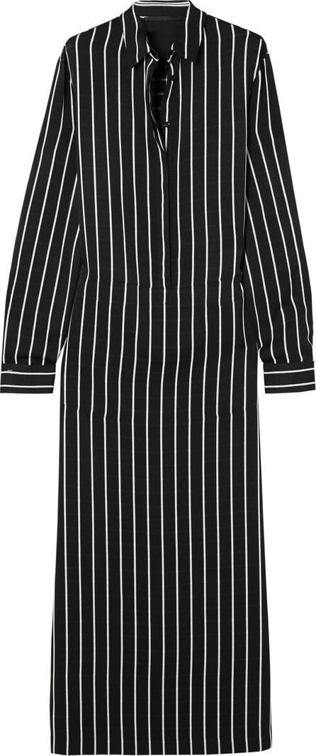 Haider Ackermann Striped satin maxi dress