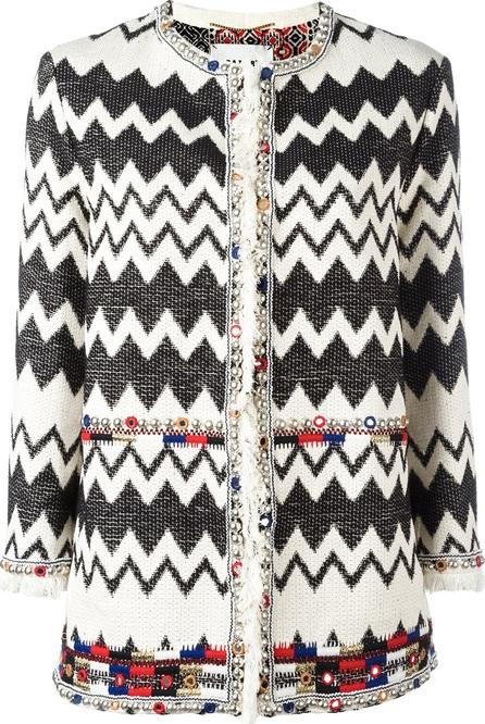 Bazar Deluxe zigzag tweed jacket