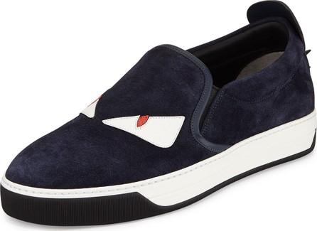 Fendi Men's Monster Slip-On Skate Sneakers, Blue