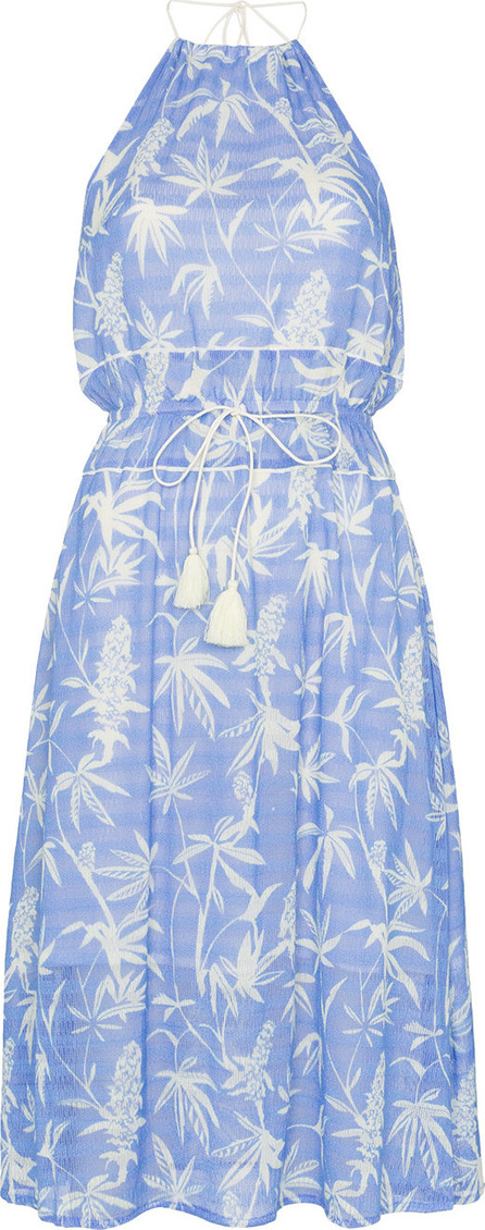 A Peace Treaty Boetica halterneck palm print cotton blend dress