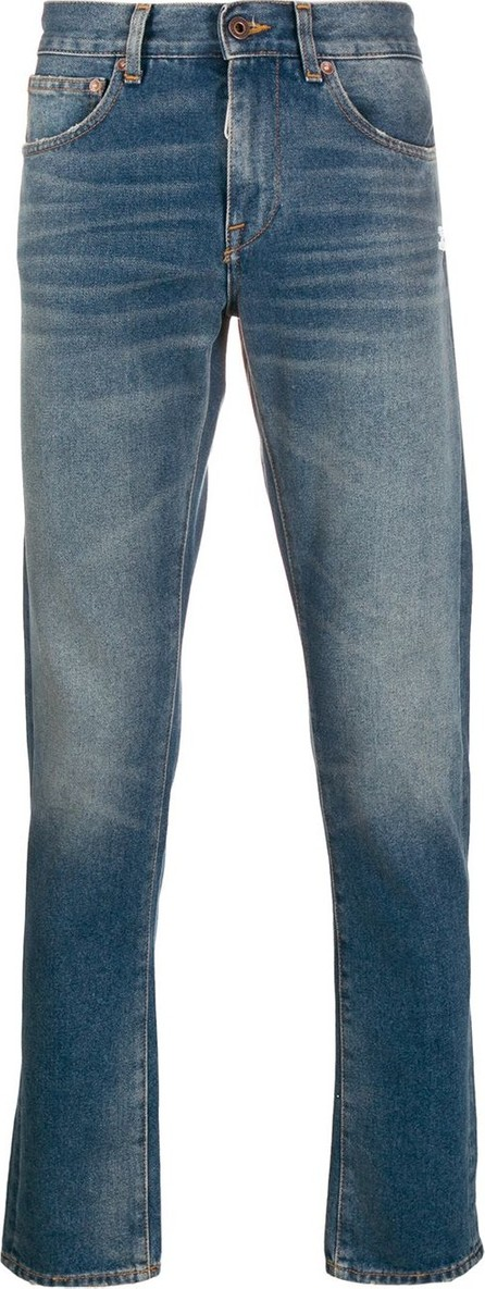 Off White Faded printed slim-fit jeans