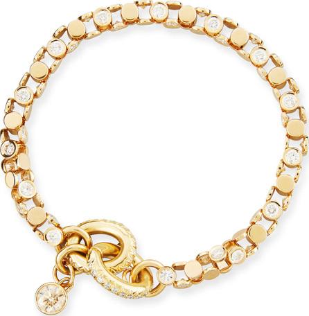 Oscar Heyman 18K Yellow Gold Partial Diamond Watch Bracelet