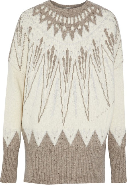 Adam Lippes Wool and cashmere-blend jacquard sweater